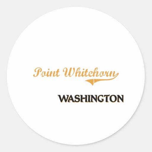 Obra clásica de Whitehorn Washington del punto Pegatina Redonda
