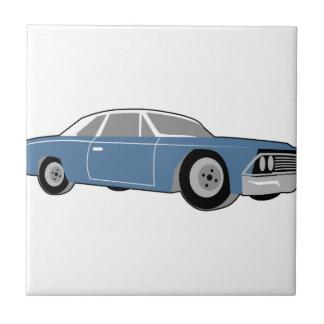 Obra clásica del coche de carreras azulejo cuadrado pequeño