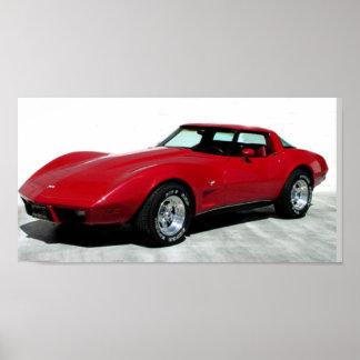 Obra clásica del Corvette de 1979 rojos Posters