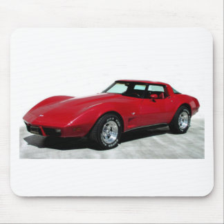 Obra clásica del Corvette de 1979 rojos Tapetes De Raton