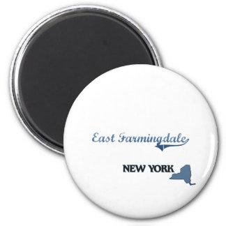 Obra clásica del este de Farmingdale New York City Imán Redondo 5 Cm