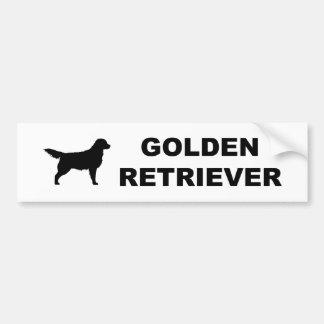 Obra clásica del golden retriever pegatina para auto