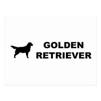 Obra clásica del golden retriever postal