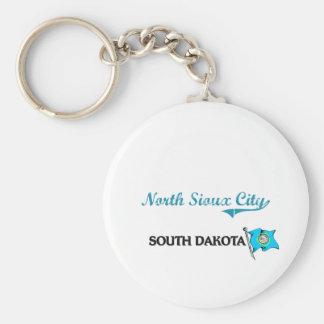 Obra clásica del norte de la ciudad de Sioux City  Llavero Redondo Tipo Pin