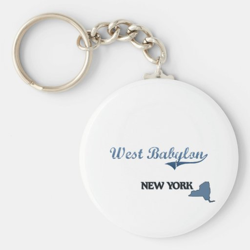 Obra clásica del oeste de Babilonia New York City Llavero Redondo Tipo Pin