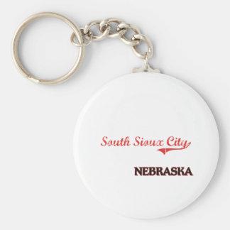 Obra clásica del sur de la ciudad de Sioux City Ne Llavero Redondo Tipo Pin
