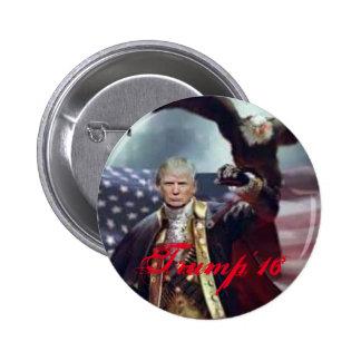 Obra clásica del triunfo de Donalld, botón redondo Pin Redondo De 2 Pulgadas