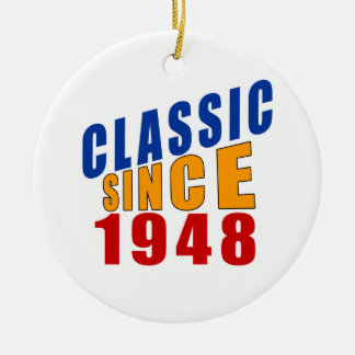 Obra clásica desde 1948 adorno navideño redondo de cerámica