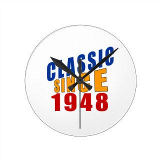 Obra clásica desde 1948 reloj redondo mediano