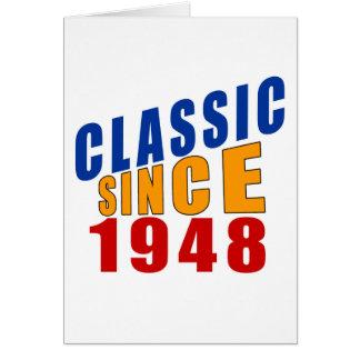 Obra clásica desde 1948 tarjeta de felicitación