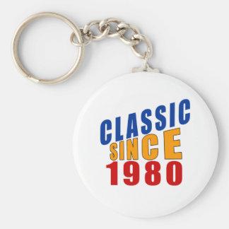 Obra clásica desde 1980 llavero redondo tipo pin
