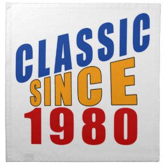Obra clásica desde 1980 servilleta imprimida