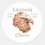 Obra clásica Eagle del Laconia Pegatina Redonda