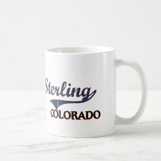Obra clásica esterlina de la ciudad de Colorado Taza Básica Blanca