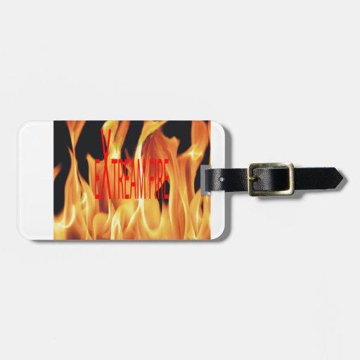 Obra clásica étnica del fuego extremo etiquetas bolsas