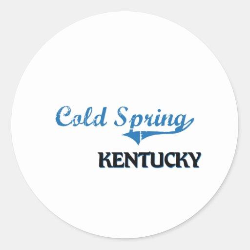 Obra clásica fría de la ciudad de Kentucky de la Pegatina Redonda