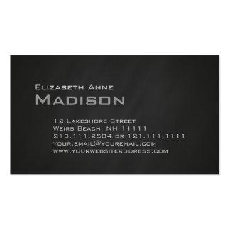 Obra clásica gris elegante del monograma de la tarjetas de visita