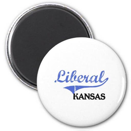 Obra clásica liberal de Kansas City Imanes Para Frigoríficos
