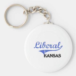 Obra clásica liberal de Kansas City Llavero Redondo Tipo Pin