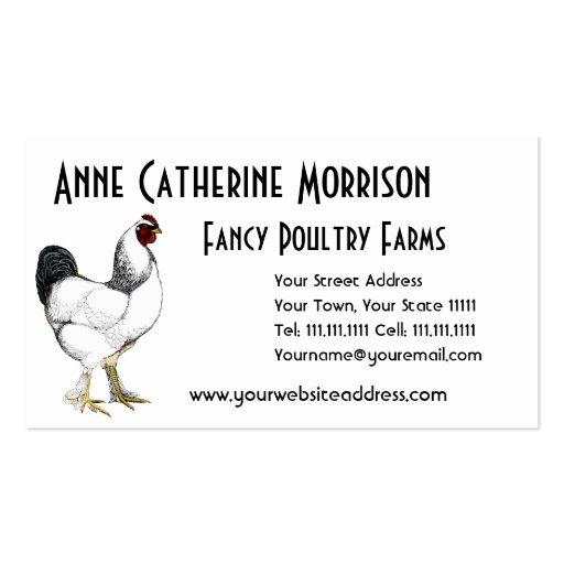 Obra clásica ligera del país del vintage del gallo tarjetas de visita