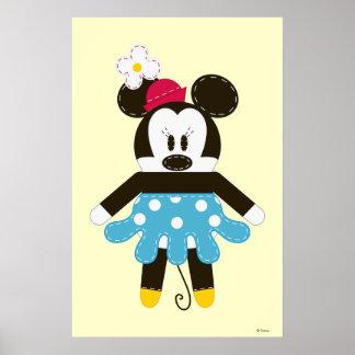 Obra clásica Minnie Mouse de Pook-a-Looz Póster