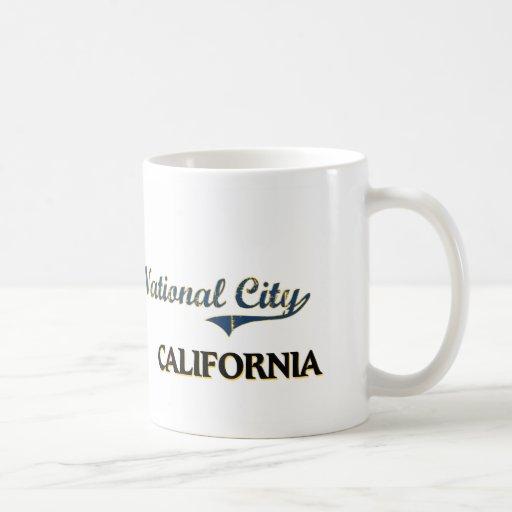 Obra clásica nacional de la ciudad de California d Taza De Café