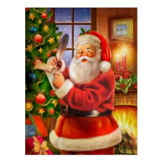 Obra clásica Papá Noel del vintage Tarjeta Postal