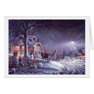 Obra clásica popular, imagen del navidad del tarjeta de felicitación