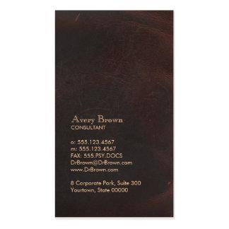 Obra clásica profesional de Brown de la mirada ele Tarjetas De Visita