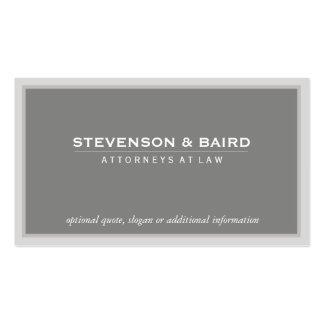 Obra clásica profesional gris elegante del consult plantillas de tarjetas personales