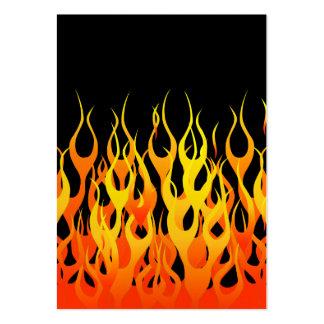 Obra clásica que compite con las llamas en el fueg tarjeta de visita