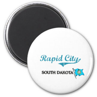 Obra clásica rápida de la ciudad de Dakota del Sur Imán Redondo 5 Cm