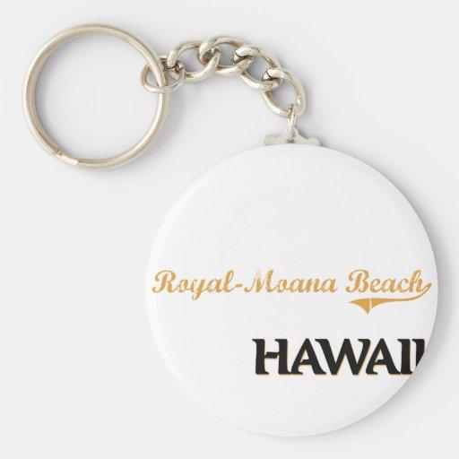 Obra clásica Real-Moana de Hawaii de la playa Llavero