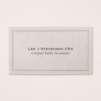 Obra clásica simple profesional de CPA del Tarjeta De Negocios