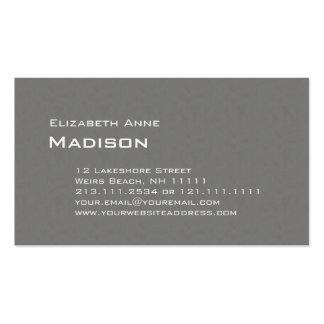 Obra clásica texturizada gris elegante del tarjetas de visita