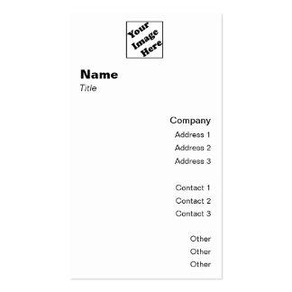 Obra clásica vertical 2 del logotipo tarjetas de visita