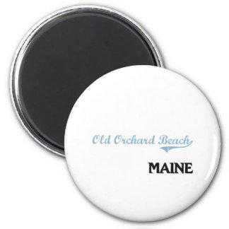 Obra clásica vieja de la ciudad de Maine de la Imán Redondo 5 Cm