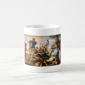 Obra maestra de Peter Paul Rubens de la caza del l Tazas De Café