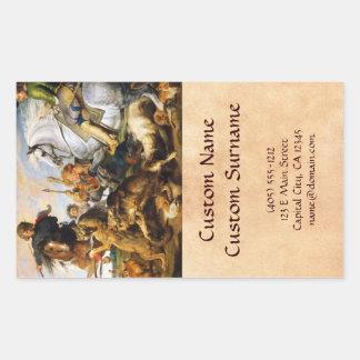 Obra maestra de Peter Paul Rubens de la caza del Rectangular Altavoces