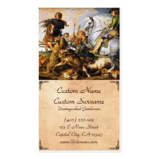 Obra maestra de Peter Paul Rubens de la caza del Tarjetas De Visita