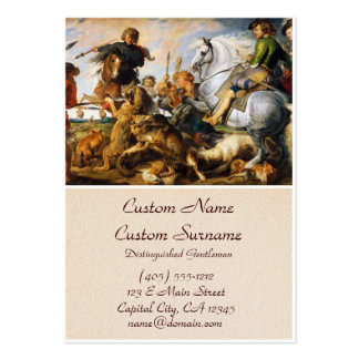 Obra maestra de Peter Paul Rubens de la caza del Tarjetas De Visita Grandes