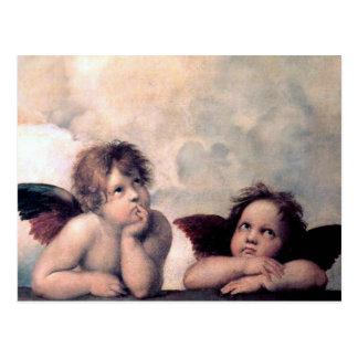 Obra maestra italiana dulce del renacimiento de tarjetas postales