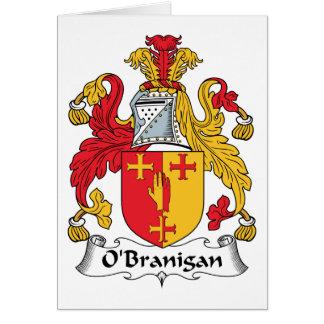 O'Branigan Family Crest Card