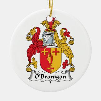 O'Branigan Family Crest Christmas Tree Ornament