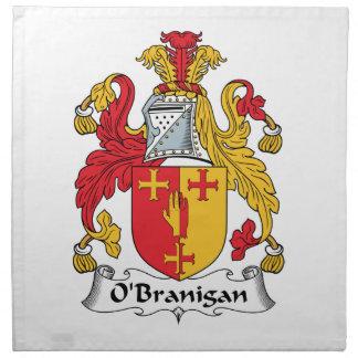 O'Branigan Family Crest Cloth Napkins