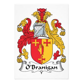 O'Branigan Family Crest Custom Invite