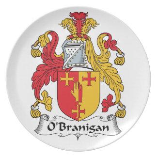 O'Branigan Family Crest Dinner Plate