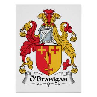O'Branigan Family Crest Print