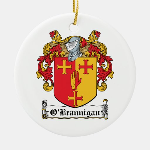 O'Brannigan Family Crest Double-Sided Ceramic Round Christmas Ornament