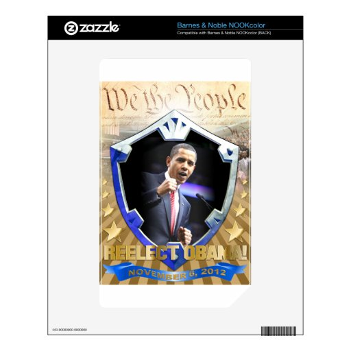 Obras clásicas de la herencia de Obama NOOK Color Skins